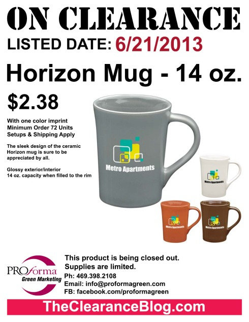 The sleek design of the ceramic Horizon mug is sure to be appreciated by all.