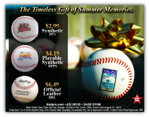 Playable Promotional Baseballs.