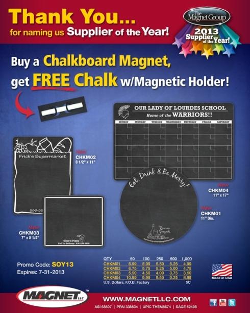 Turn you refrigerator into a chalkboard!
