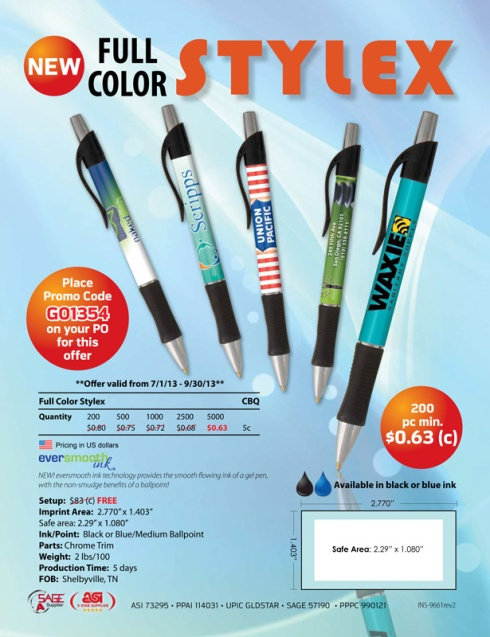 Stylex Pens - Now with Eversmooth Ink!