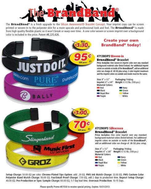 Woven brand bracelet. Expires 10/31/2013.