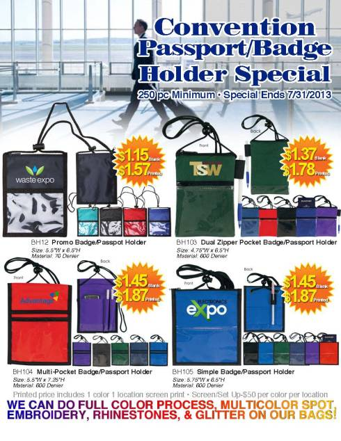 69¢ Convention & Passport Badgeholders