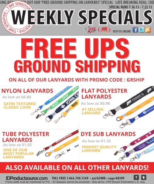 A Weekly Special on Your Favorite Lanyards!