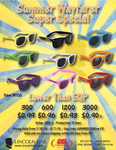 Wayfarer Sunglasses Below EQP Blowout. End 8/7/13