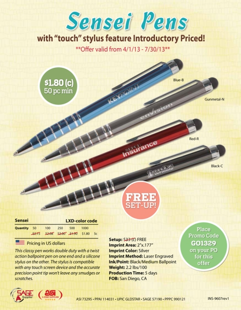 These classy stylus pens get you noticed!