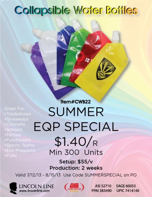 Summer Sale On Folding Water Bottles.