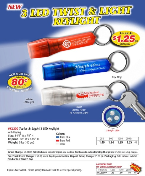 Do the Twist With LED Flashlights.