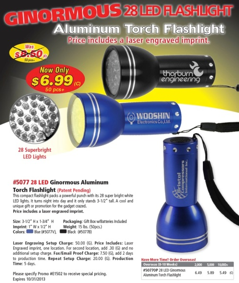 Shorter Days mean you Need a Brighter Flashlight.
