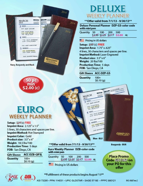 Get'em while you can! 2014 Weekly Planners