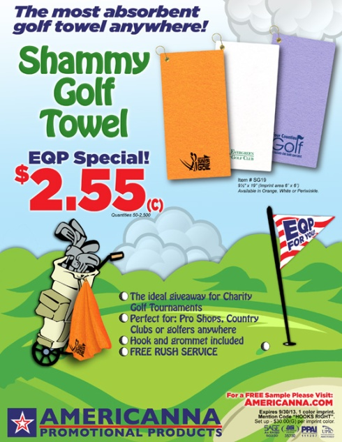 GOLF Towels – EQP pricing from Americanna!