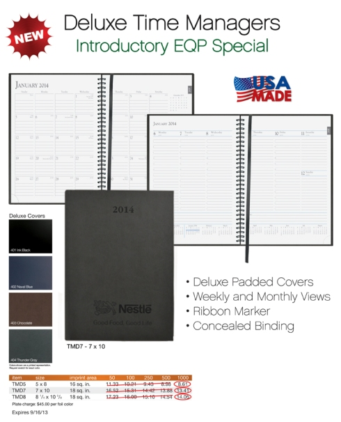 EQP Special on New Deluxe Time Managers