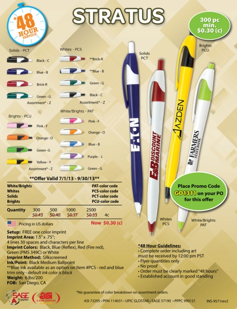 Popular Stratus Pens are in stock and ready to go!