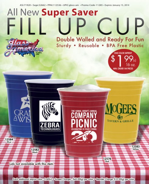 Super Saver Fill Up Cup by Glass America.