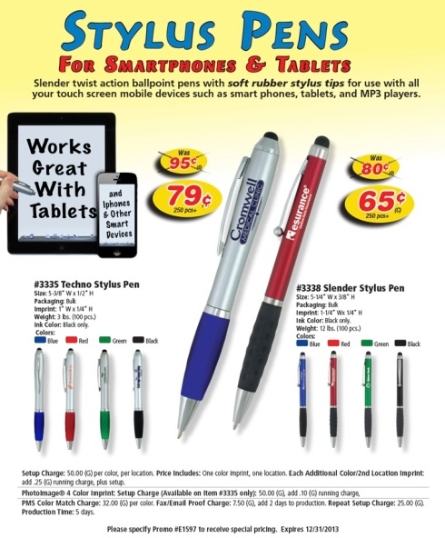 Stylus Pens for the Stylish Customer