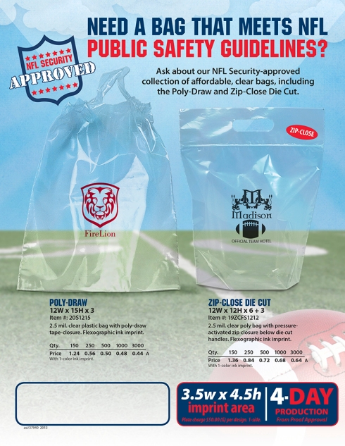 Need a Bag That Meets NFL Public Safety Standards?