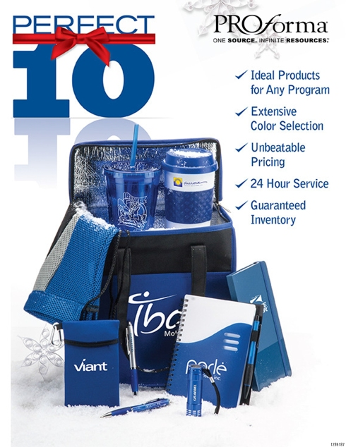 One of the largest and most successful company initiatives in 35 years is The Perfect 10!  Taking our proven- most successful products in our top 5 categories, committing to one million units per item at the factory level, guaranteeing it will be in stock when you need it no matter how large the units, and having unbeatable pricing;   this is the perfect solution for any program, corporate on-line or free standing store, or event that you are planning.