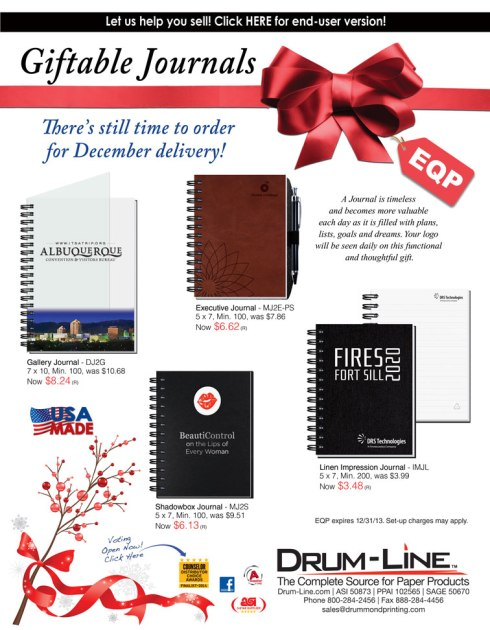 Giftable Journals - There's still time to order & receive by Christmas!