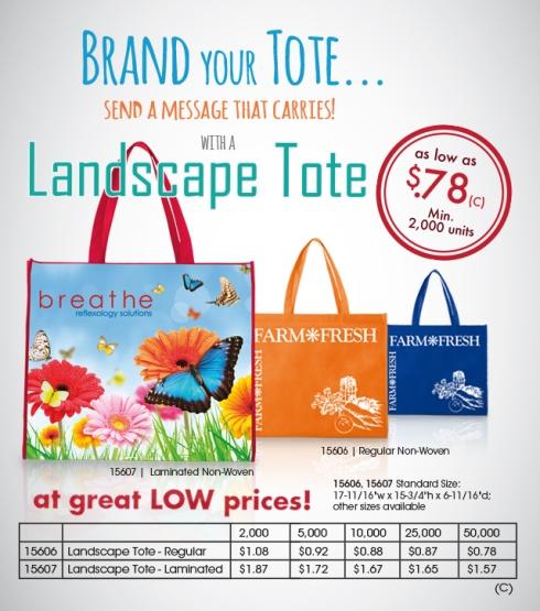 Brand your Tote! Send a message that carries!