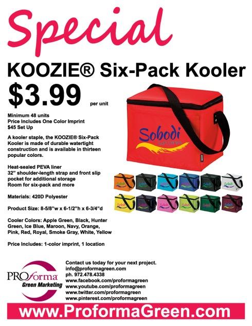 Koozie 6-pack flyer