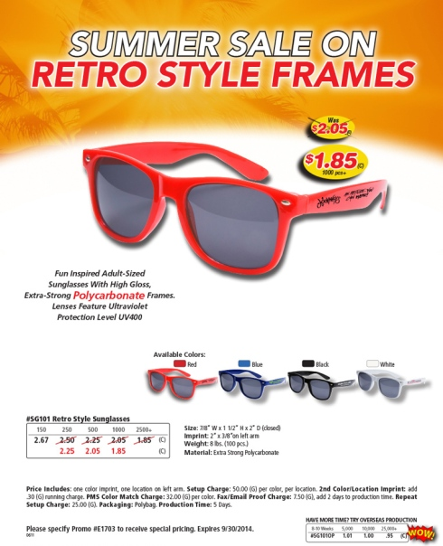 Adult-Sized Sunglass With High Gloss, Extra-Strong Polycarbonate Frames and FDA Compliant Polycarbonate lenses. The UV400 Lenses provide 100% UVA and UBA protection. Meets FDA Standards. Colors : Red, Black, Blue, White