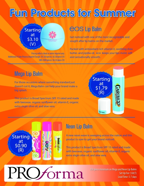 We can print any custom logo on these lip balm items. Made in USA.